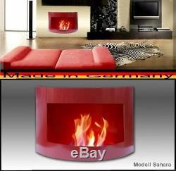 Kamin Sahara Rot für Brenngel Kamin Ethanol / gelkamin ethanolkamin bioethanol