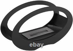Kratki Bio Ethanol Glass & Steel Echo Outdoor Patio Heater in Black