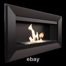 Kratki CHARLIE 88cm wall mounted bio ethanol fireplace
