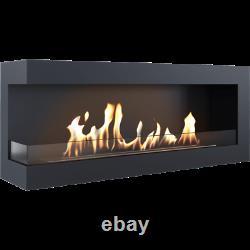 Kratki DELTA corner left bio ethanol fireplace 1200 with glass