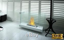 LINATE black or white- Free Standing Bio-Ethanol Bio Fireplace TUV Certified