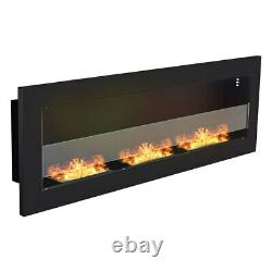 Large Glass Bio Ethanol Fireplace Biofire Fire Mounted On the Wall or Recessed