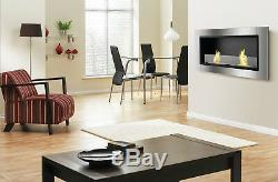 Lata with Front Glass Ignis Recessed Ventless Bio Ethanol Fireplace