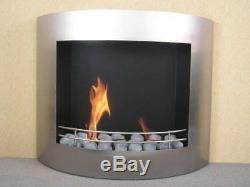 London Gelkamin Edelstahl Bio Ethanol Wandkamin Cheminée Gel Kamin Fireplace