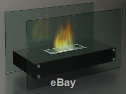 Luxus Tischfeuer mit Sicherheitsglas Bioethanol Tischkamin ganzjährig verwendbar