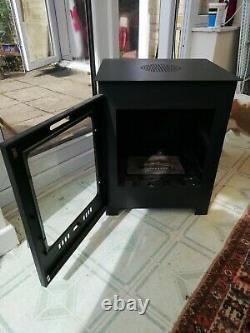 Malvern Bio-ethanol free-standing real flame stove