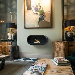 Marlow Bio-ethanol Imagin Fire Real Flame Fireplace Stones & Fuel Box In Black