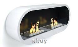 Marlow White Wall Hung Bio-ethanol Twin Burner Fire IM BF21W From Tivolli Ltd