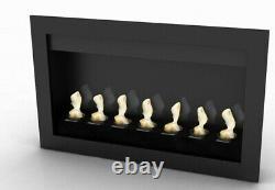 Modern Bio-Ethanol Fireplace in Black