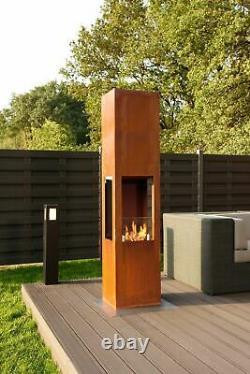 Muenkel design Prism Fire L 3-seitiger BIO-Ethanol Ofen Stand (FKE-0352. WS. MS)