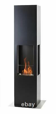Muenkel design Prism Fire L 3-seitiger BIO-Ethanol Ofen Standk (FKE-0352. GRAA)