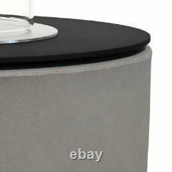 Muenkel design Vagos asphalt-schwarz BIO-Ethanol Feuerstelle (FKE-0873. ASZ)