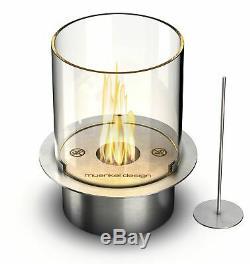 Muenkel design Vigo Streifen schwarz BIO-Ethanol Feuerstelle (FKE-0872. SSZ)