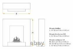 Muenkel design breeze BIO-Ethanol Ofen Standkamin Kaminofen Korpus (FKE-0050E)
