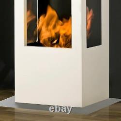Muenkel design prism fire Bioethanolkamin 3-seitige Sicht Edelstahl, matt