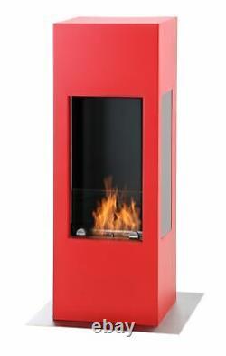 Muenkel design prism fire Bioethanolkamin 3-seitige Sicht Feuerrot