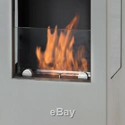 Muenkel design prism fire Bioethanolkamin 3-seitige Sicht Schwarzgrau
