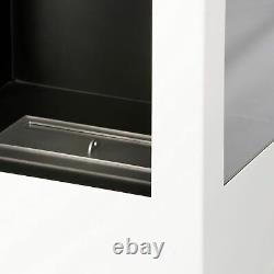 Muenkel design prism fire Bioethanolkamin 3-seitige Sicht weiß (warm)
