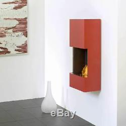 Muenkel design wall flip Bio-Ethanol Wandkamin Reinweiß (warm)