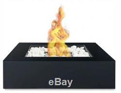 NEW Bio Ethanol Fireplace Biofire Fire Outdoor Indoor Garden Patio White Stones
