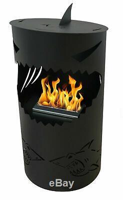 NEW MODERN Freestanding Bio ethanol fireplace biofire fire S-H-A-R-K