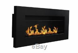 New Premium Bio Ethanol Fire BioFire Fireplace LONG SHADOW 900 x 400 + GLASS
