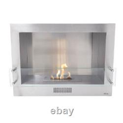 Pluggable/Mounting Wall Fireplace Bioethanol Kit Made of Stainless Steel