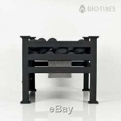Polished Steel Bio Ethanol Fire Grate Bioethanol Fuel Free Standing