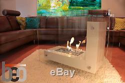 Premium Bio Ethanol Fireplace BARCELONA Modern Designer Duel Insulated Burner