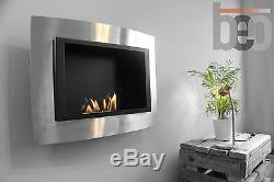 Premium Bio Ethanol Fireplace WAVE Wall Hung Modern Design Beofires