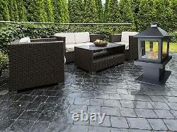 Purline Outdoor Garden Delfos Bio-Ethanol Stove Fireplace, Black