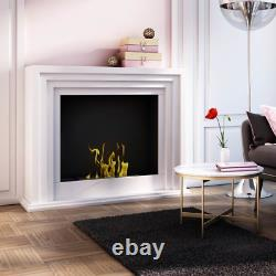 QUAERERE BIO FIREPLACE white with TÜV certificate PRICE INCLUDING GLASS