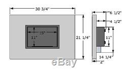 Quadra Ignis Ventless Recessed Bio Ethanol Fireplace with Front Glass Barrier