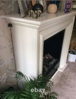 Quality Luxury Gel Fireplace Self Standing Bio Ethanol cw Fake Logs
