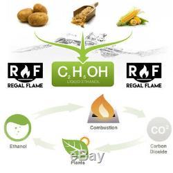 Regal Flame Birch 18 Bio Ethanol Ventless Fireplace Convert Gas Log Insert Set