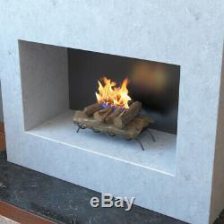 Regal Flame Oak 18 Bio Ethanol Ventless Fireplace Convert Gas Log Insert Set