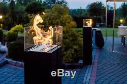 Romeo black TÜV bio ethanol fireplace freestand 113cm + welcome pack SALE