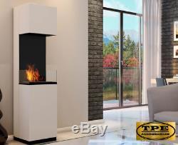 SIERRA Free Standing contemporary Bio-Ethanol Bio Fireplace TUV Certified
