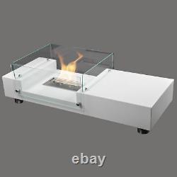 Seattle Bio-Ethanol Chimney Quality White Living Room Table Luxury Fireplace
