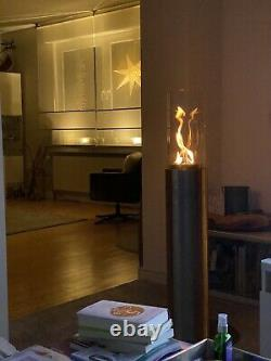 Sehr eleganter Bioethanol Kamin für Innen & Aussen Zylinder 117cm Gesamthöhe