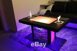 Solid Coffee Table Fire Pit Led Bio Ethanol Fireplace