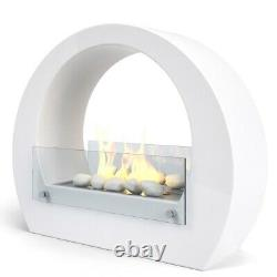 Stunning Fully Functional Boston Bioethanol Fireplace, Including medium pebbles