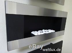 TÜV Bioethanol Kamin Biokamin Wandkamin Cheminée mit Glasscheibe in 4 Varianten