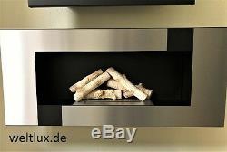 TÜV Geprüft Wand Biokamin BioEthanol mit Glasscheibe Cheminée EU Gratis Versand