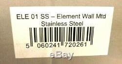 The Naked Flame Ele 01 Ss Wall Mounted Bio Ethanol Fire Brushed Stainless Steel
