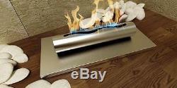 Tisch Gel- und Ethanol-Kamin EDELSTAHL gebürstet Gelkamin Bio-ethanolkamin NEU