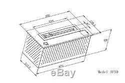 Ventless Automatic Bio ethanol burner INSERT Intelligent fireplace