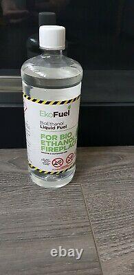 Wall Hung Large Modern Black Bio Ethanol Fire Imaginfires Alden 900w 500h 260d