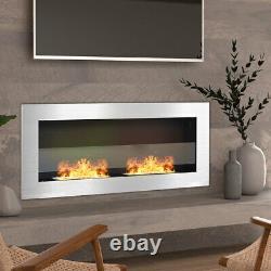 Wall Mounted Bioethanol Fire Fireplace Home Decor Ethanol Burner Flicker Flames