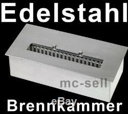 XXL Edelstahl Bio Ethanol Brenner +3 Liter Ethanol +11 X Keramikholz Gel Kamine